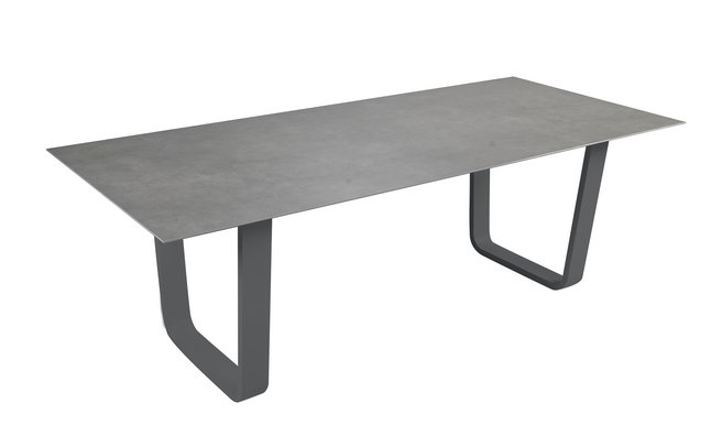 ocean table de jardin luca c ramique anthracite l 220 x lg 100 cm collishop. Black Bedroom Furniture Sets. Home Design Ideas