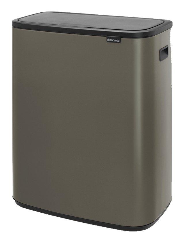 Brabantia Touch Bin 30 Liter Afvalemmer.Brabantia Afvalemmer Touch Bin Bo Platinum 2 X 30 L