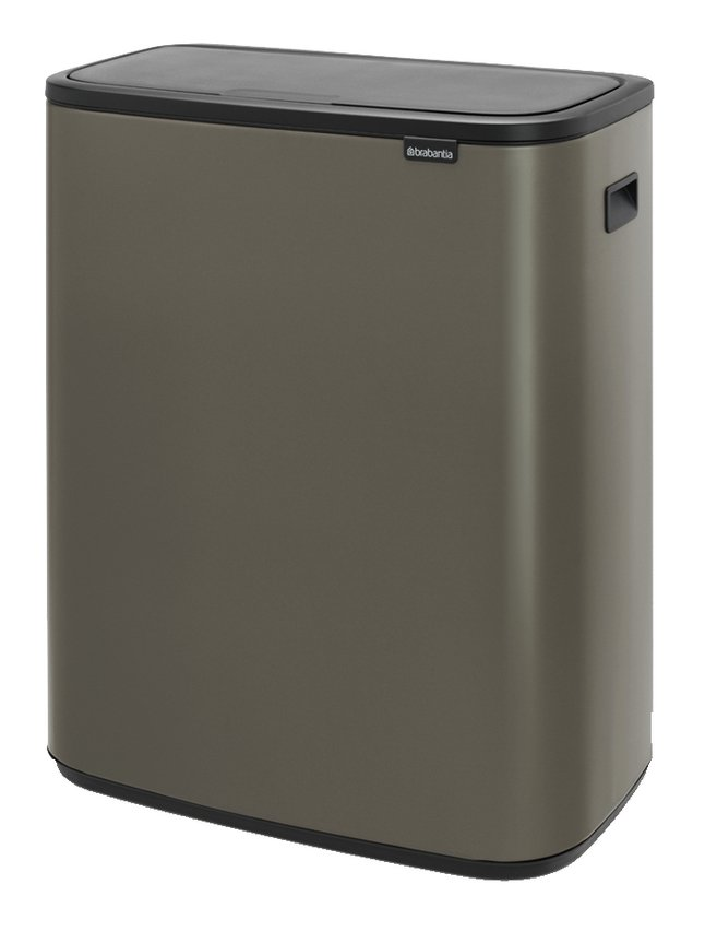 Afbeelding van Brabantia Afvalemmer Touch Bin Bo platinum 60 l from ColliShop