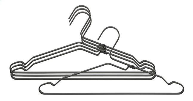Brabantia Kleerhanger met inkepingen aluminium zwart - 4 stuks