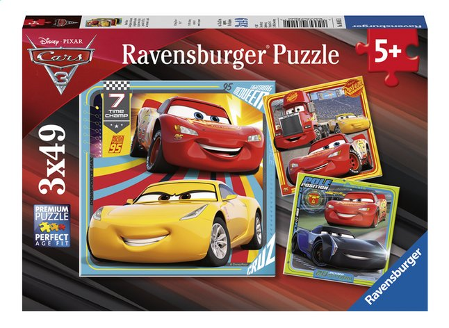 Afbeelding van Ravensburger puzzel 3-in-1 Disney Cars 3 from ColliShop
