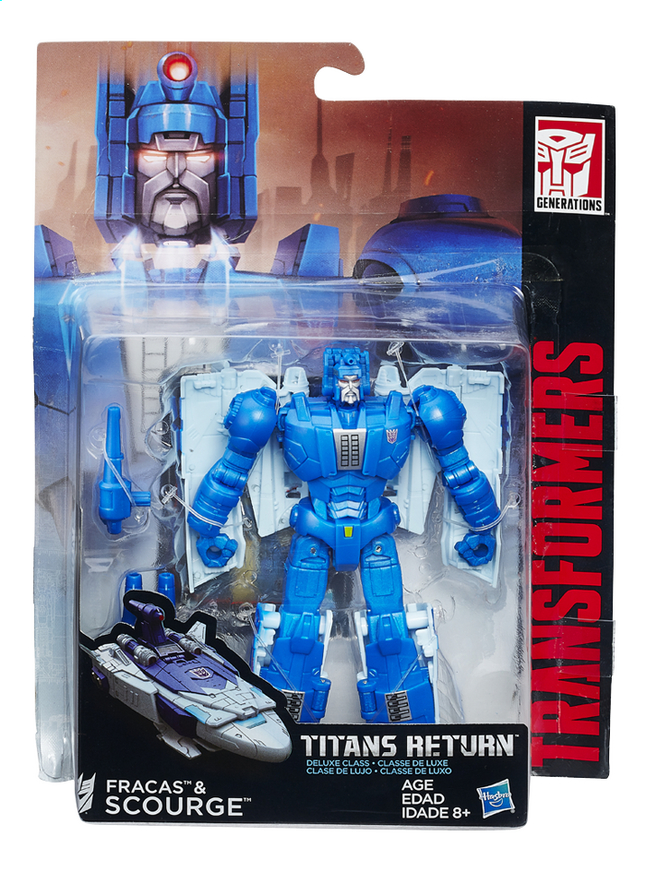 Afbeelding van Figuur Transformers Generations Titans Return Deluxe Class Fracas & Scourge from ColliShop
