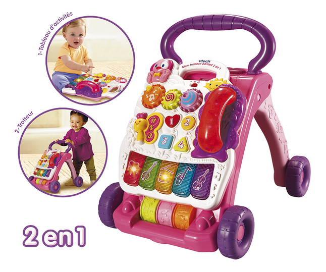 Afbeelding van VTech Super Trotteur parlant rose FR from ColliShop