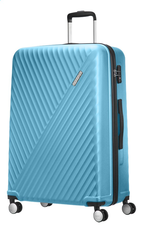 71f71276e Afbeelding van American Tourister Harde reistrolley Visby Spinner light  blue 76 cm from ColliShop