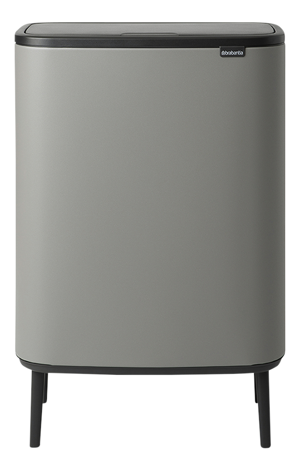 Brabantia Afvalemmer Touch Bin Bo Hi mineral concrete grey 2 x 30 l