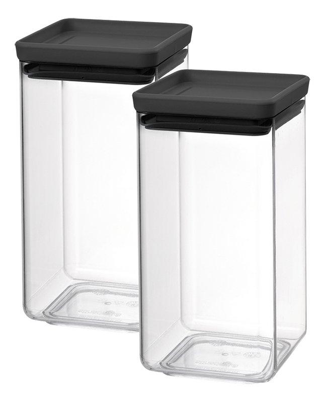 Image pour Brabantia 2 boîtes à provisions Tasty+ dark grey 1,6 l à partir de ColliShop