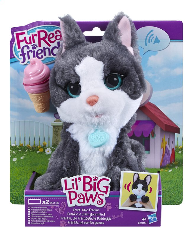 Afbeelding van FurReal Friends interactieve knuffel Lil' Big Paws Treat Time Frankie from ColliShop