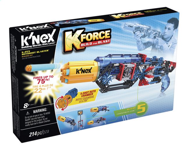 Afbeelding van K'nex K'Force Build and Blast K-25X Rotoshot Blaster from ColliShop