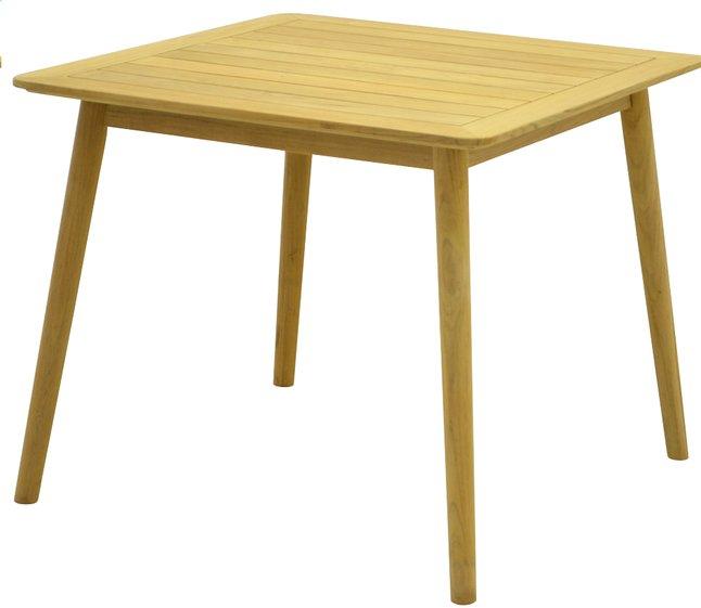 Image pour ScanCom table de jardin Malasa teck 90 x 90 cm à partir de ColliShop
