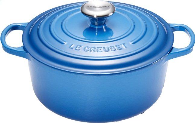 Afbeelding van Le Creuset ronde stoofpan Signature bleu marseille 20 cm - 2,4 l from ColliShop