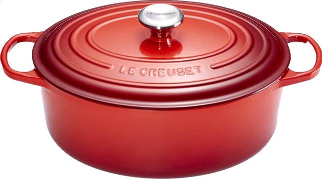 Image pour Le Creuset cocotte ovale Signature rouge cerise 27 cm - 4,1 l à partir de ColliShop