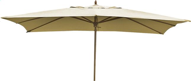 Image pour Parasol de luxe en bois FSC 2 x 3 m sable à partir de ColliShop