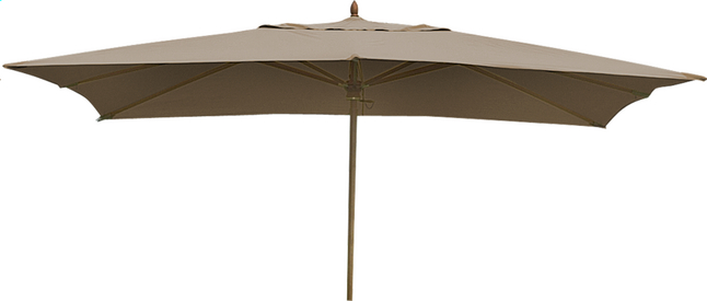 Afbeelding van FSC-luxehoutmastparasol 2 x 3 m taupe from ColliShop