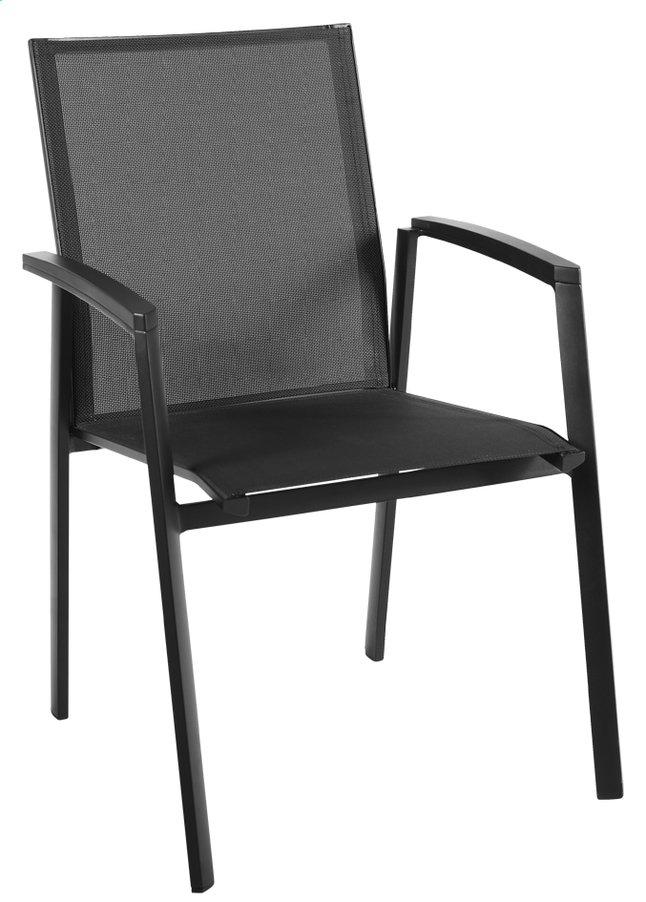 Chaise de jardin bondi noir collishop for Chaise de jardin noire