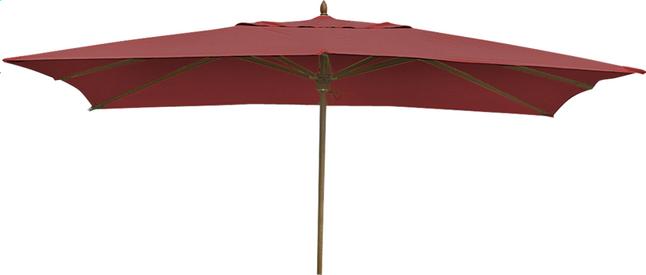 Image pour Parasol de luxe en bois FSC 2 x 3 m bordeaux à partir de ColliShop