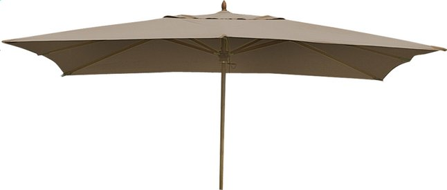 Afbeelding van FSC-luxehoutmastparasol 3 x 4 m taupe from ColliShop