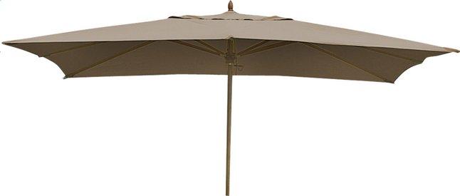Image pour Parasol de luxe en bois FSC 3 x 4 m taupe à partir de ColliShop