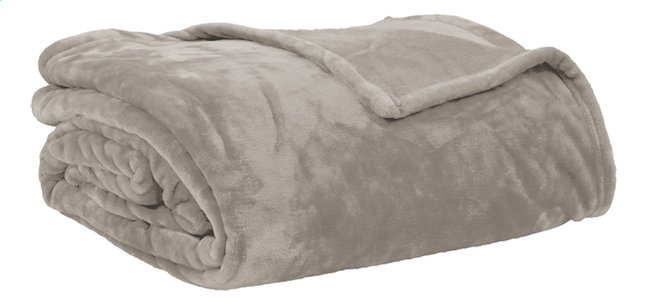 Afbeelding van Tiseco Home Studio Plaid Soft uni taupe microflanel 220 x 240 cm from ColliShop