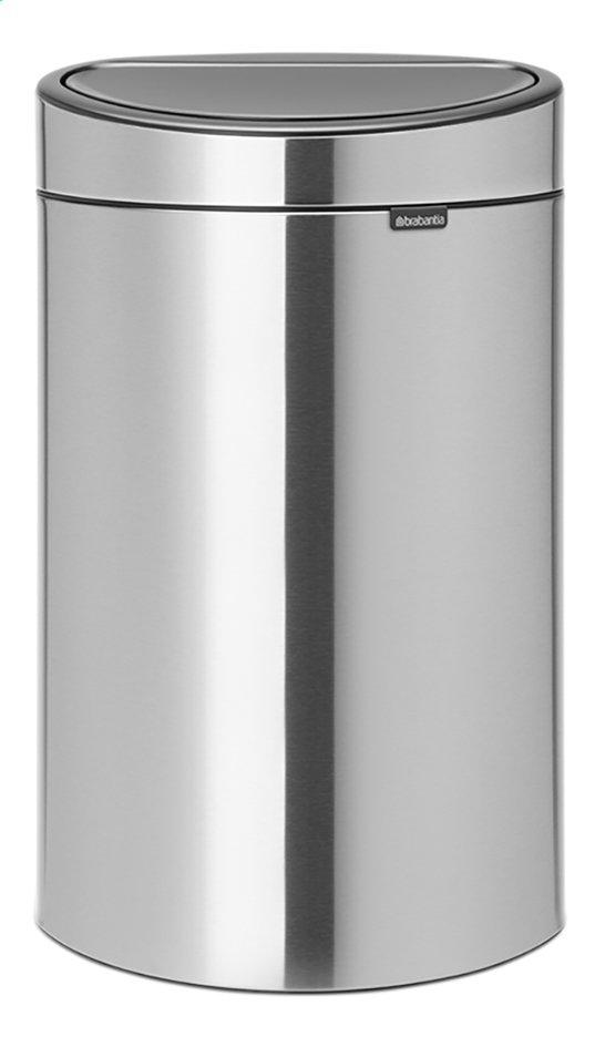 Afbeelding van Brabantia Afvalemmer Touch Bin matt steel 40 l from ColliShop