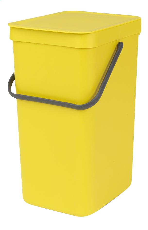 Afbeelding van Brabantia Afvalemmer Sort & Go geel 16 l from ColliShop