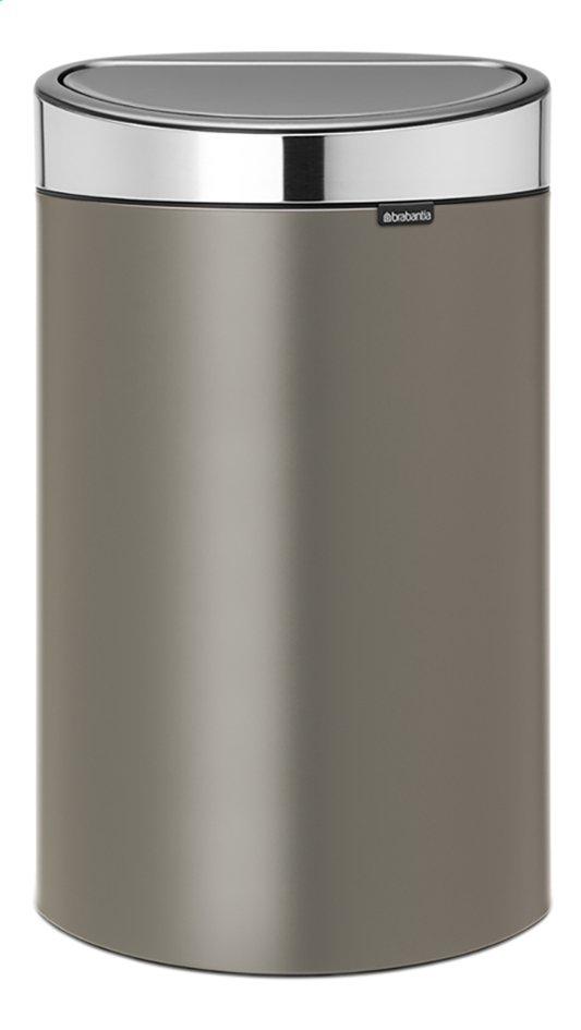 Afbeelding van Brabantia Afvalemmer Touch Bin platinum 40 l from ColliShop