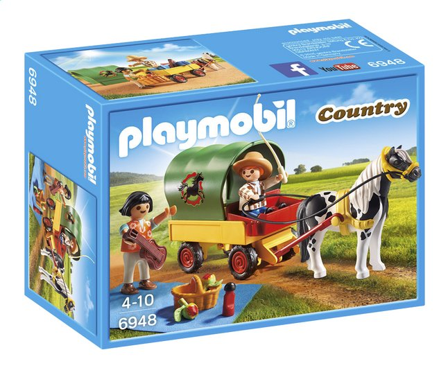 Afbeelding van Playmobil Country 6948 Picknick met ponywagen from ColliShop