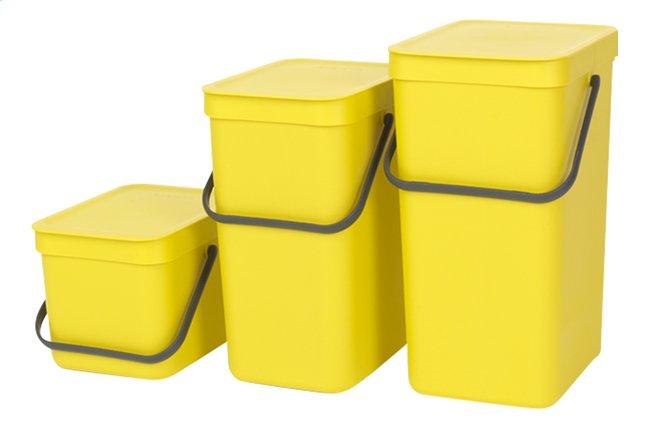 Afbeelding van Brabantia Afvalemmer Sort & Go geel from ColliShop