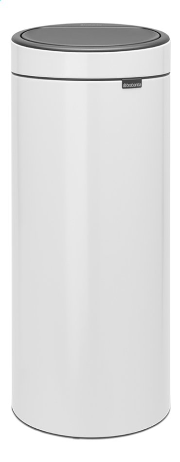 brabantia poubelle touch bin new white 30 l collishop. Black Bedroom Furniture Sets. Home Design Ideas