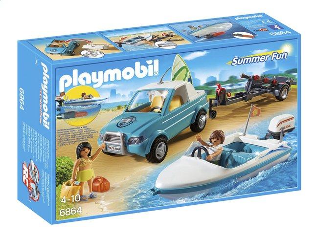 Image pour Playmobil Summer Fun 6864 Voiture avec bateau et moteur submersible à partir de ColliShop