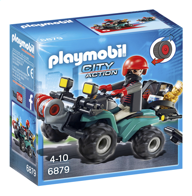 Afbeelding van Playmobil City Action 6879 Bandiet en quad met lier from ColliShop