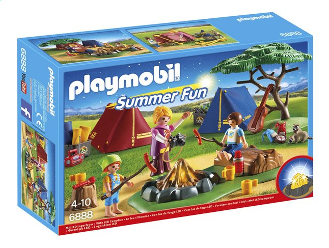Afbeelding van PLAYMOBIL Summer Fun 6888 Tentenkamp met kampvuur from ColliShop