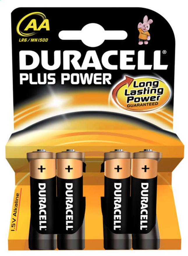 Image pour Duracell 4 piles AA Plus Power à partir de ColliShop