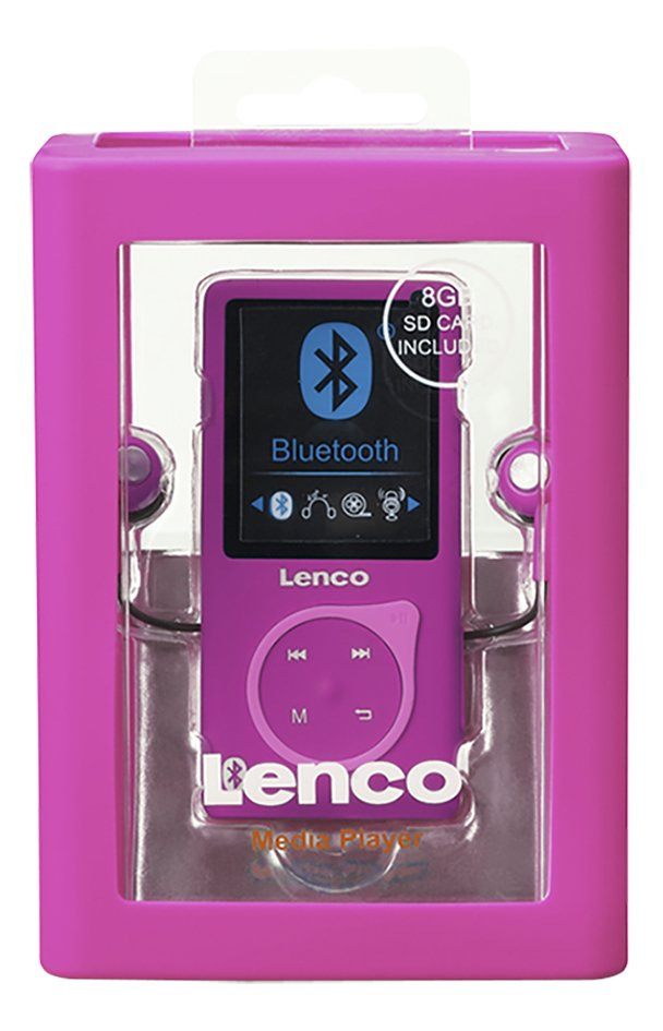 Lenco mp4-speler Bluetooth MP-208 8 GB roze