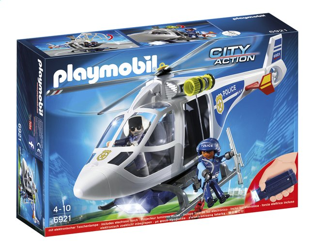 Afbeelding van PLAYMOBIL City Action 6921 Politiehelikopter met LED-zoeklicht from ColliShop