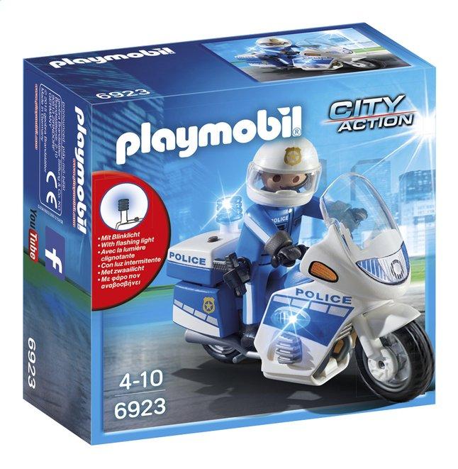 Image pour Playmobil City Action 6923 Moto de policier avec gyrophare à partir de ColliShop