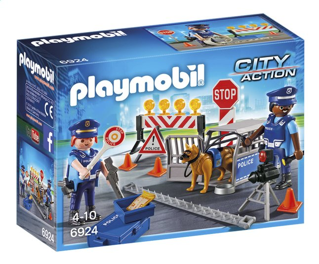 Afbeelding van Playmobil City Action 6924 Politiewegversperring from ColliShop