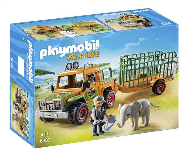 Afbeelding van Playmobil Wild Life 6937 Ranger terreinwagen met olifant from ColliShop