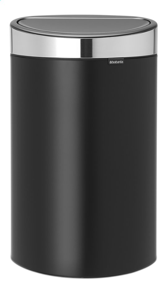 Brabantia poubelle touch bin matt black 40 l collishop for Habitat poubelle cuisine