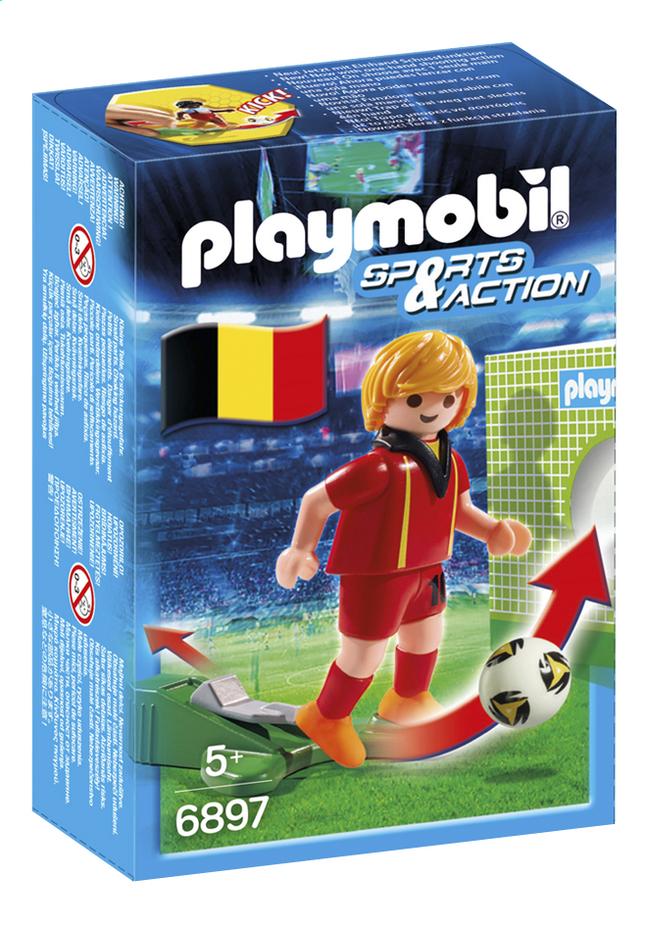 Afbeelding van Playmobil Sports & Action 6897 Voetbalspeler België from ColliShop