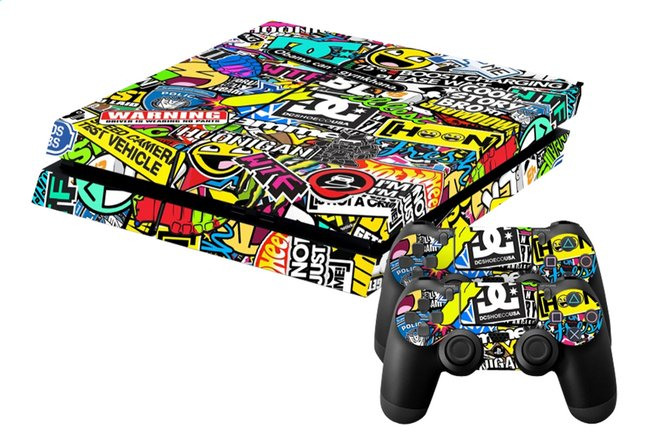 Afbeelding van PS4 console skins + 2 controllers skins Hoonigan from ColliShop