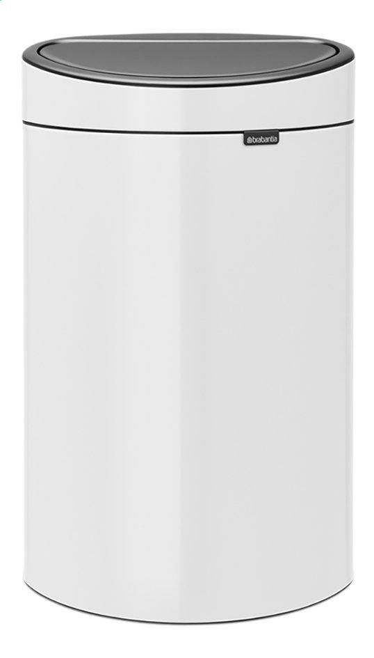 Afbeelding van Brabantia Afvalemmer Touch Bin New white 40 l from ColliShop