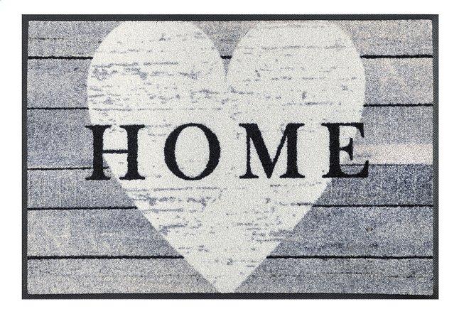Afbeelding van Wash+dry Deurmat Heart home 50 x 75 cm from ColliShop