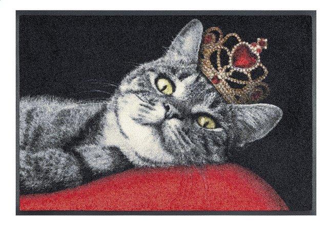 Wash+dry Deurmat Royal cat 50 x 75 cm