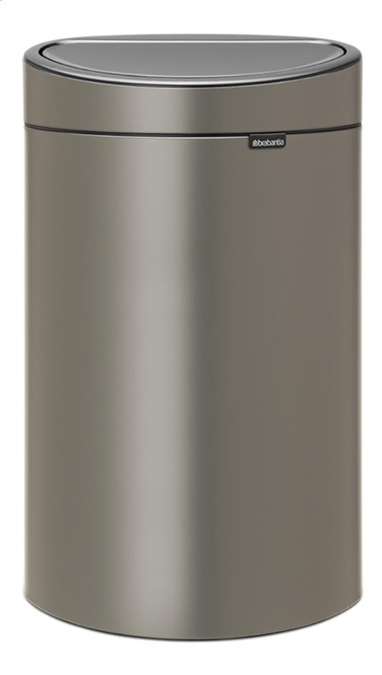 Brabantia Poubelle Touch Bin New Platinum 40 L