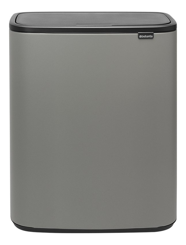 Afbeelding van Brabantia Afvalemmer Touch Bin Bo mineral concrete grey 60 l from ColliShop