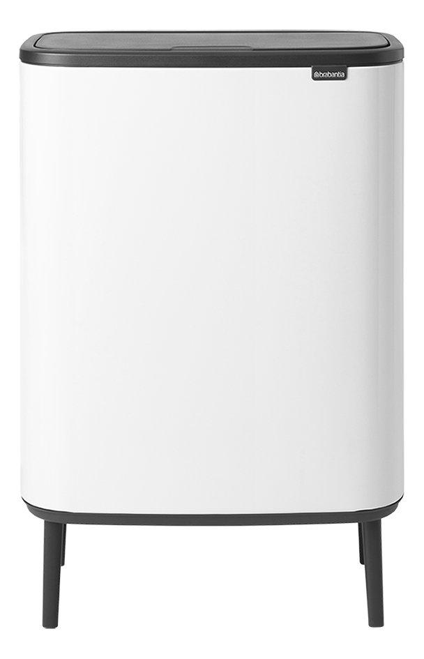 Brabantia Touch Bin 30 Liter Wit.Brabantia Afvalemmer Touch Bin Bo Hi Wit 2 X 30 L