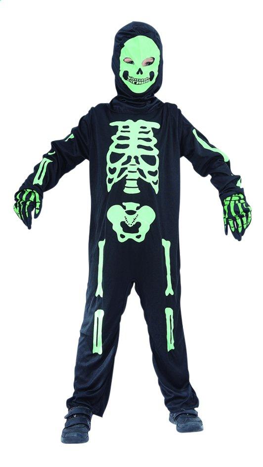 Afbeelding van Verkleedpak skelet zwart maat 164 from ColliShop