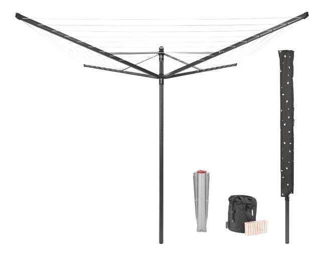 Brabantia Séchoir-parapluie Lift-O-Matic 50 m + sac