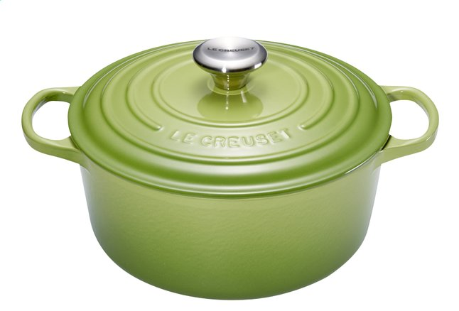 Afbeelding van Le Creuset ronde stoofpan Signature palm 24 cm - 4,2 l from ColliShop