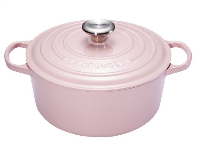 Afbeelding van Le Creuset ronde stoofpan Signature chiffon pink 24 cm - 4,2 l from ColliShop
